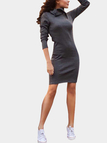 Polo Neck Knitted Bodycon Dress