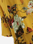 Yellow Floral Print Off Shoulder Sleeveless Playsuits