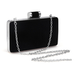 Velvet Box Clutch Bag in Black