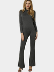 Long Sleeves Bodycon Jumpsuit with Back Zippper Design