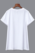 White Short-sleeved T-shirt With Funny Print