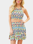 Geometrical Pattern Co-ord with Halter