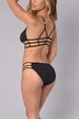Black Sexy Caged Design Bikini Set