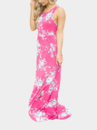 Rose Random Floral Printed Maxi Dress