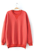 Coral Sweatshirt with Side Zips