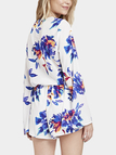 Flared Sleeves Floral Romper