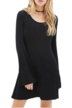 Black Swing Long Sleeve Dress