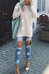 Casual Round Neck Star Pattern Long Sleeves Sweatshirt