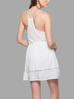 White Drawstring Waist Mini Dress