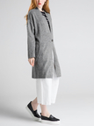 Grey Knitted Cardigan with One Button