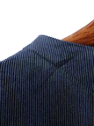 Navy Corduroy 3/4 Length Sleeve Top