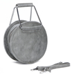 Artificial Leather-look Handbag in Grey