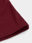 Burgundy Self-tie Front Details Off Shoulder Short Sleeves Sexy Bodycon Blouse