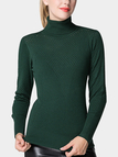 Green Hollow Out High Neck Jumper