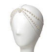 Draped Chain-Front Pearl Headpiece