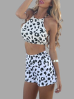 Leopard Sleeveless Open Back Co-ord