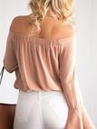 Sexy Off-shoulder Flared Sleeves Blouse