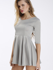 Grey Ladies Style Tight-waist Mini Dress