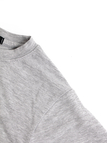 Grey Simple Letter Printing Round Neck Crop T-shirt