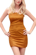 Camel Backless Lace-up Back Bodycon Mini Dress