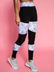 Casual Split Joint Yoga Print Leggings in Black