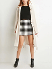 Beige Hooded Drawcord Trench Coat