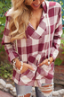 Long Sleeve Checked Shirt with Hood