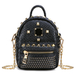 Black Rivet Design Mini Backpack