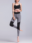 Active Stitching Design High-Waisted Sports Leggings in Grey