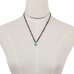 Silvery Chain & Black String Chain Necklace Set