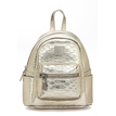 Glittery Croc Leather-look Mini Backpack in Gold