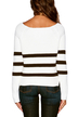 Long Sleeves Striped Knitwear with Round Neck
