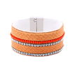 Orange Artificial Diamond Magnetic Cuff Bracelet