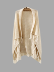 Fashion Sleeveless Knitted Cardigan with Tassels Details