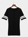 Black Round Neck Short Sleeves Tees Dress