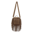 Khaki Tassel Fringed Mini Bag