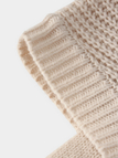 Beige Cable Knit V-neck Long Sleeves Sweaters