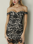 Black Sweet Body-Conscious Lace Dress