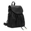 Leather-look Backpack in Black