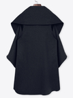 Dark Green Open Front Sleeveless Cape Coat