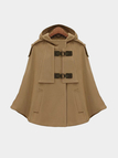 Hooded Cape in Camel