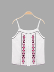 Round Neck Printing Front Cami