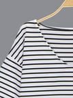 Casual Stripe Pattern T-shirt