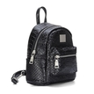 Gleaming Croc Leather-look Mini Backpack in Black