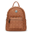 Woven Mini Backpack in Brown