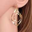 Gold Plated Double Spiral Design Drop Earrings