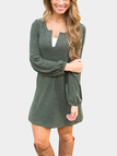 Green Lantern Sleeves Mini Dress