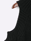 Black Fashion Cold Shoulder Raglan Jumper
