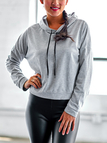 Grey Hooded Design Pullover Causal Sweatshirt