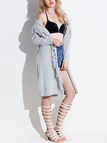 Longline Cardigan with Tassel Details
